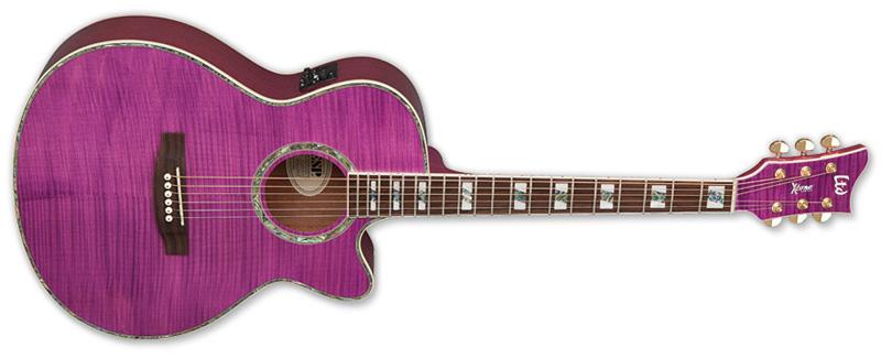 ESP LTD AC-20E Acoustic Electric Guitar See Thru Magenta Finish (XAC20EFMSTM)