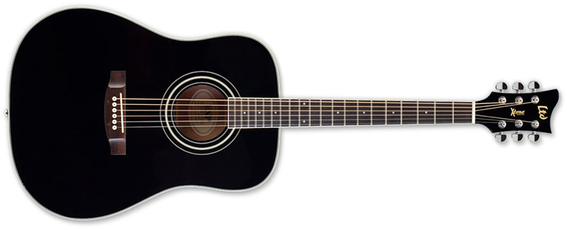 ESP LTD Xtone D5 Acoustic Guitar,Black Finish (XD5BLK)