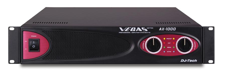 DJ Tech AX 1000 2400 Watts Power Amplifier