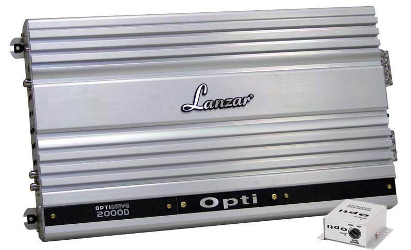 Lanzar OPTI2000D Optidrive 2000 Watt Half Ohm Stable Mono Block Digital Competition Class Amplifier