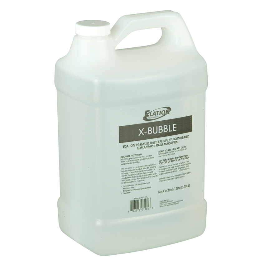 Elation X-BUBBLE UV Pro Fluid One Gallon Designed Use for Bubble Machines