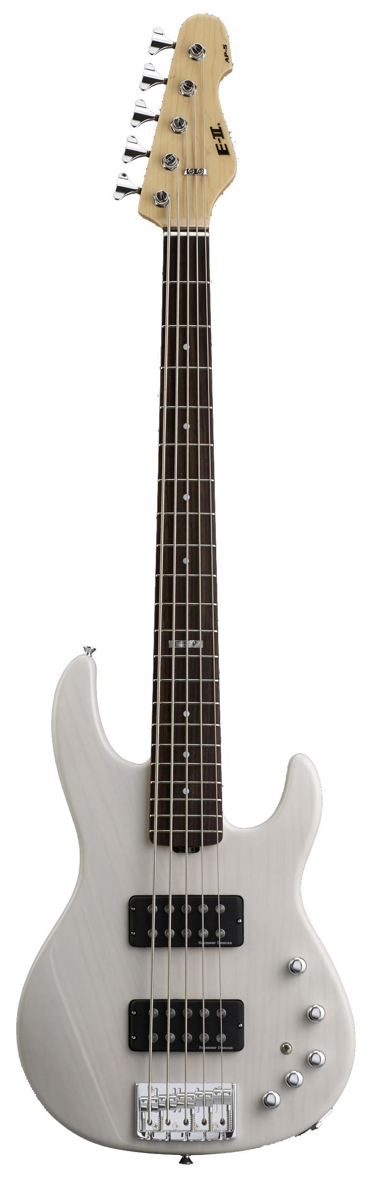 ESP AP-5 STW E-II AP Series 5-String 21 XJ Frets Electric Bass Guitar with See Thru White Finish
