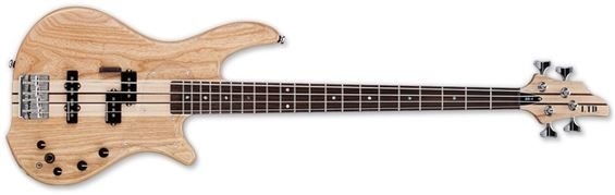 ESP LTD BB-4 SNAT BB Series Electric Bass Guitar with Alder/Swamp Ash Body and Satin Natural Finish