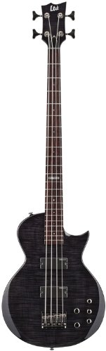 ESP LTD EC-154DX STBLK Standard Bass Guitar Flame Maple Top with See Through Black Finish