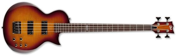 ESP LTD EC-154DX TSB Standard Bass Guitar with Flamed Maple Top Tobacco Sunburst Finish