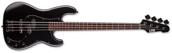 ESP LTD FB-204 BLKS Bass Guitar with U Neck Contour and Black Satin Finish