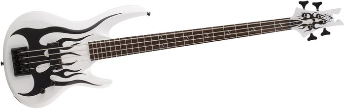 ESP LTD FRED LECLERCQ FL-204 SW Signature Series Electric Bass Guitar with Snow White Satin Finish