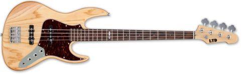 ESP LTD J-204 ASH NAT Bass Guitar with Chrome Hardware Natural Gloss Finish