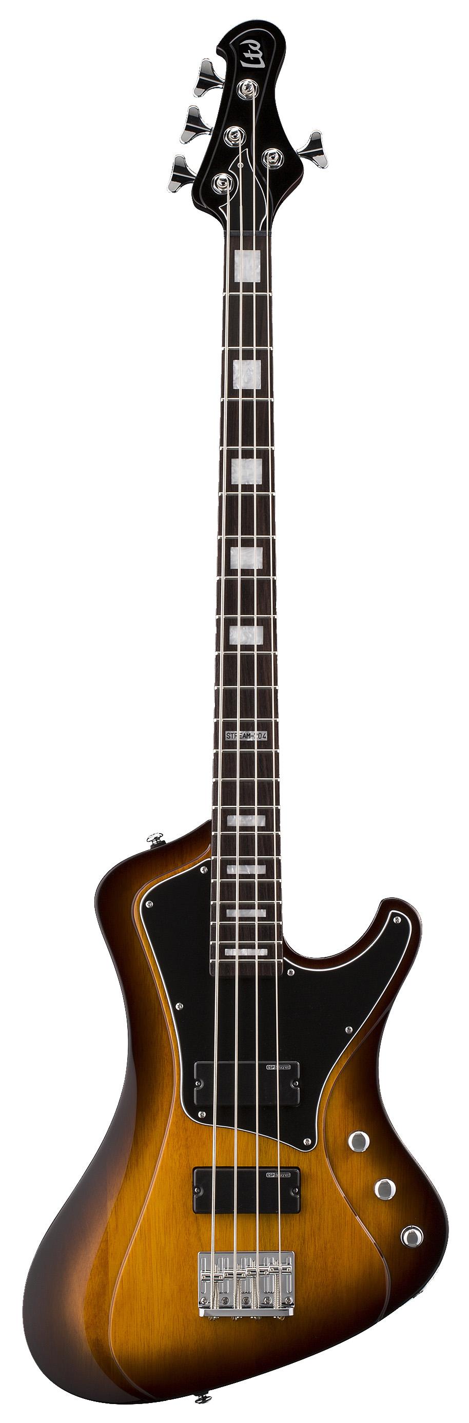 ESP LTD STREAM-204 TSB Stream Series Mahogany Body Electric Bass Guitar w/ Tobacco Sunburst Finish