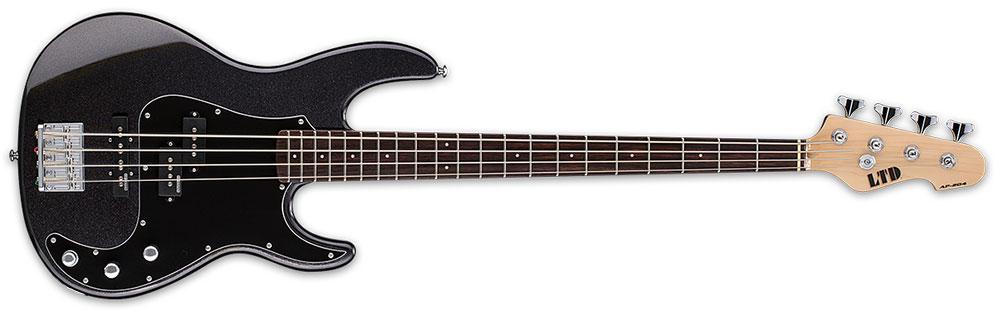 ESP LTD AP-204 CHM 4-String Maple Neck Electric Bass Guitar - Charcoal Metallic Finish (LAP204CHM)