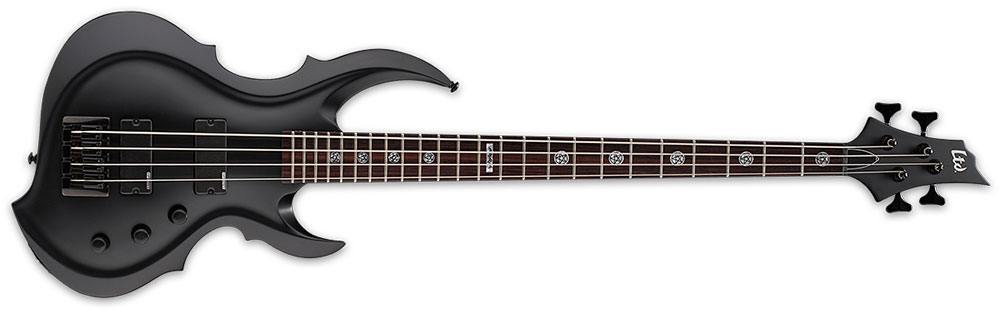 ESP LTD TA-204 FRX BLKS 4-String Tom Araya Signature Electric Bass Guitar - Black Satin Finish (LTA204FRXBLKS)