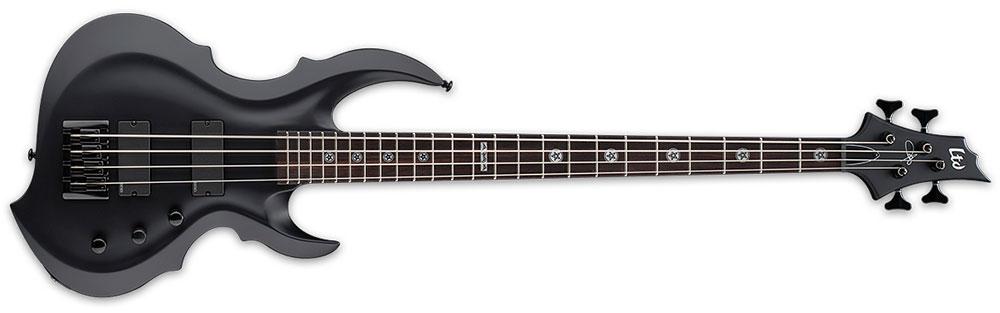 ESP LTD TA-604 FRX BLKS 4-String Tom Araya Signature Electric Bass Guitar - Black Satin Finish (LTA604FRXBLKS)