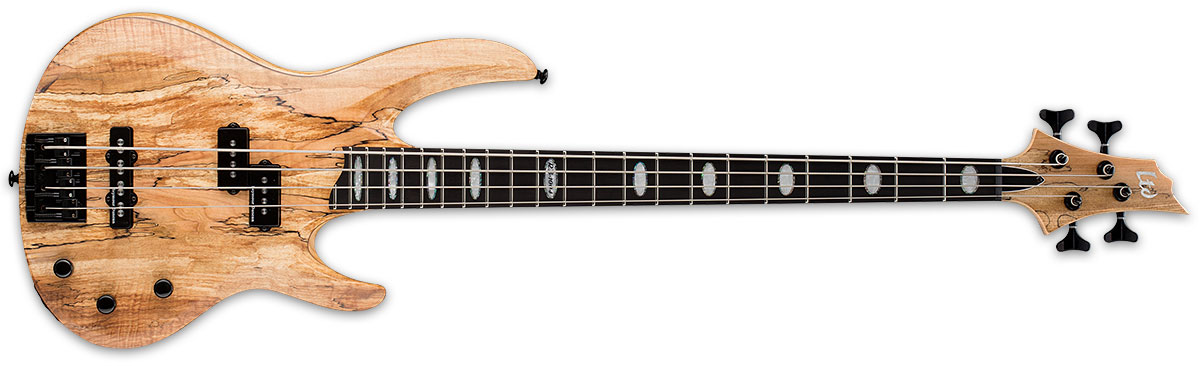 ESP LTD RB Series RB-1004SM Solid Spalted Maple Top Bass Guitar - Natural Satin Finish (LRB1004SMNS)