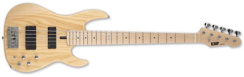 ESP Surveyor-5 Maple Standard Series Bass Guitar -Natural Gloss Finish Ash w/ Maple Bolt-On Neck (ESURVEYOR5BLK)