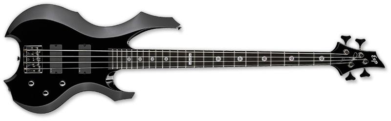 ESP Tom Araya Signature Series Bass Guitar - Black Finish Alder w/ Maple Neck Thru (ETARAYA)