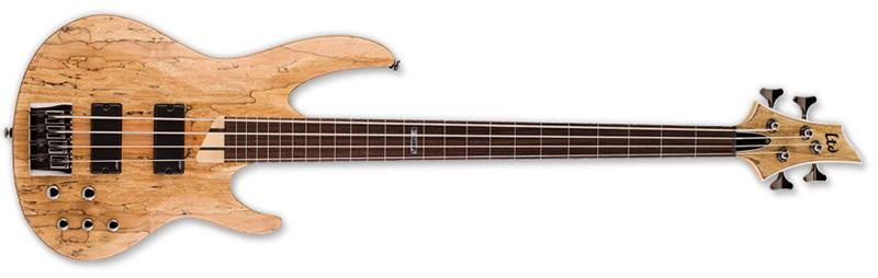 ESP LTD B-204SM-FL Fretless B Series Bass Guitar - Natural Satin Finish Ash w/ Spalted Maple Top (LB204SMFLNS)