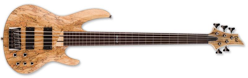 ESP LTD B-205SM-FL Fretless B Series Bass Guitar - Natural Satin Finish Ash w/ Spalted Maple Top (LB205SMFLNS)