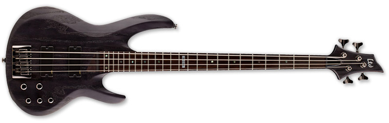 ESP LTD B-334 B Series Bass Guitar - Stain Black Finish Ash w/ Maple/Rosewood Neck (LB334SBLK)