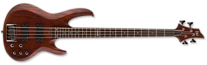 ESP LTD B-334 B Series Bass Guitar - Stain Brown Finish Ash w/ Maple/Rosewood Neck (LB334SBRN)