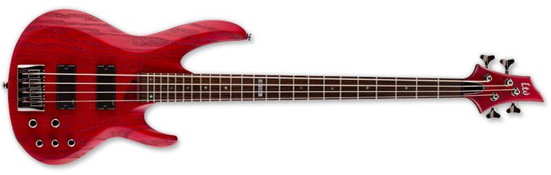 ESP LTD B-334 B Series Bass Guitar - Stain Red Finish Ash w/ Maple/Rosewood Neck (LB334SR)