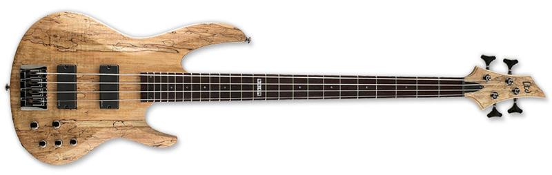 ESP LTD B-414SM B Series Bass Guitar - Natural Satin Finish Ash w/ Spalted Maple Top (LB414SMNS)