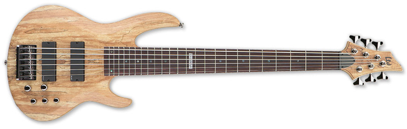 ESP LTD B-416SM B Series Bass Guitar - Natural Satin Finish Ash w/ Spalted Maple Top (LB416SMNS)