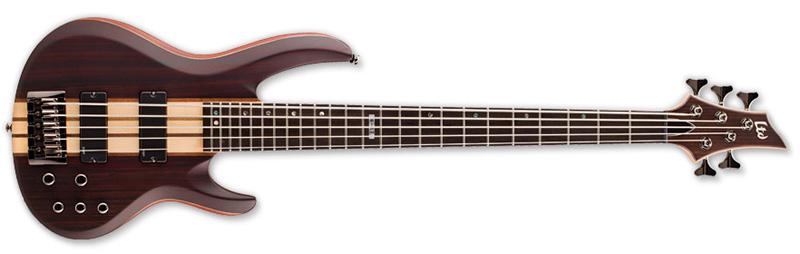 ESP LTD B-5E B Series Bass Guitar - Natural Satin Finish Mahogany w/ Ebony Top (LB5ENS)