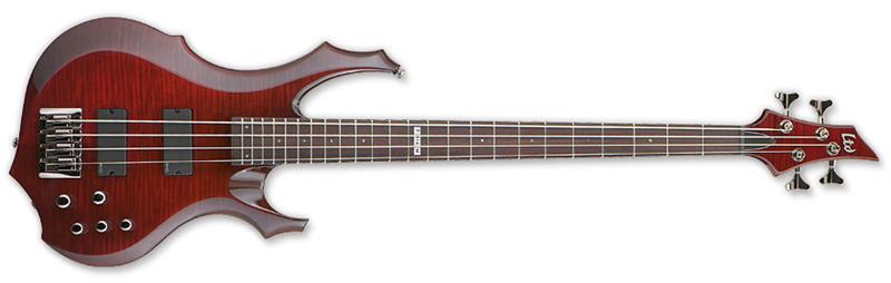 ESP LTD F-414 FM F-Series Bass Guitar - See Thru Black Cherry Finish Flamed Maple Top & Mahogany Body (LF414FMSTBC)