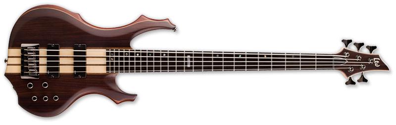 ESP LTD F-5E F-Series Bass Guitar - Natural Satin Finish Mahogany Body & Ebony Top (LF5ENS)
