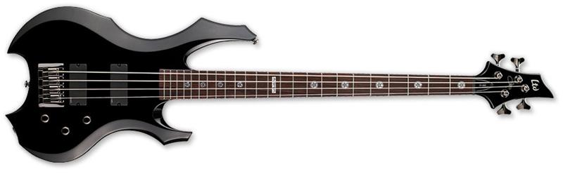 ESP LTD TA-600 Signature Series Tom Araya Bass Guitar Black (LTA600BLK)