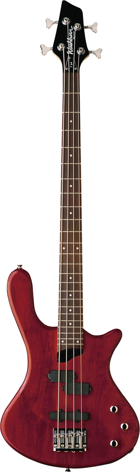 Washburn T14CG Taurus Series Electric Bass Guitar with Tuners and Cognac Finish