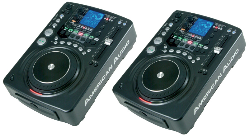 DJ Package American Audio Pro Systems (Two) CDI 500 MP3 Scratch CD Players System