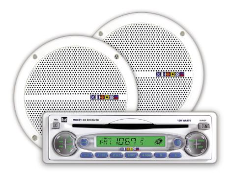 Dual MXCP40A Marine In-Dash AM/FM/CD Player Boat Head Unit
