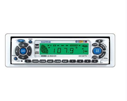 Dual Audio MXD60 Marine Audio AM/FM CD Player Receiver Tuner Deck