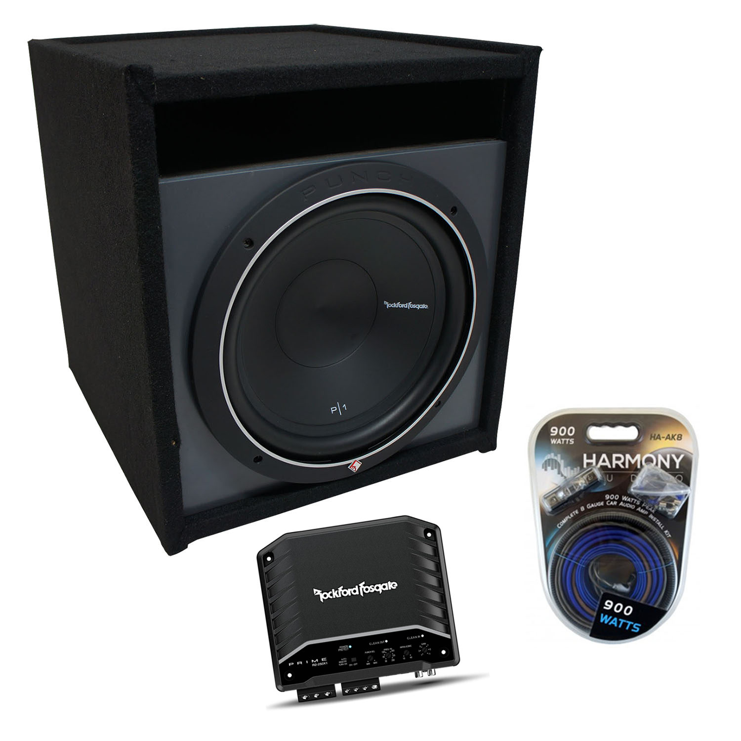 """Universal Car Stereo Paintable Ported 10"""" Rockford Punch P1S210 Sub Box R2-250X1"""