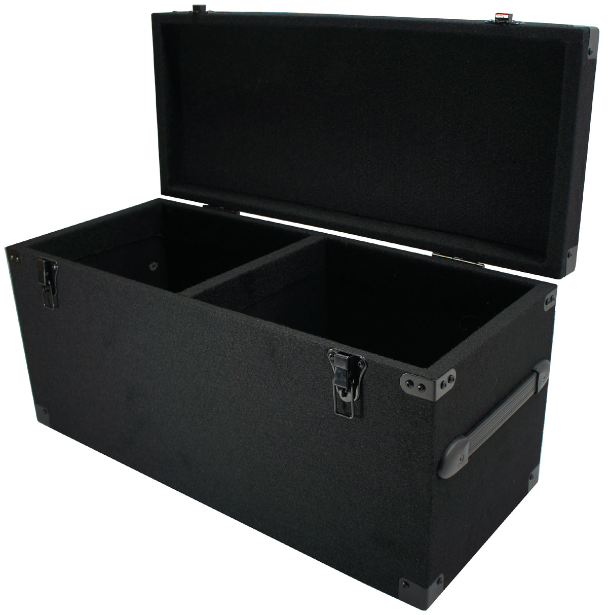 Durable DJ Carpeted Case Removeable Lid Storage Box for 180 LP Vinyl Records