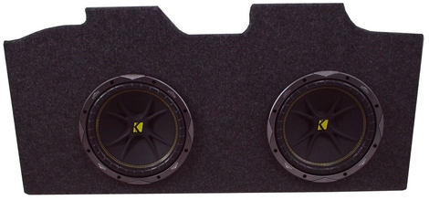 "Dual 12"" Kicker C12 Loaded Amplified Camaro Sub Box"