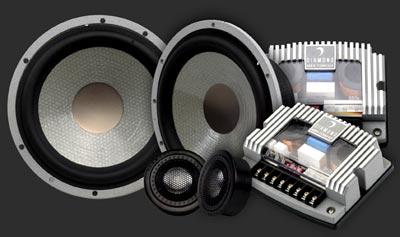 "Diamond Audio H500s Car Audio 5"" Component Speakers W/ Silk Tweeters"