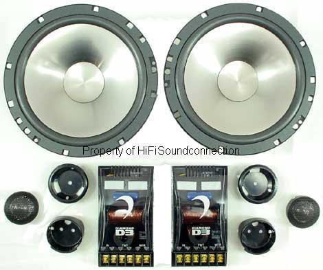 """Diamond D362.5 Car Audio 6 1/2"""" Door Component Speakers 120W Pair Closeout"""