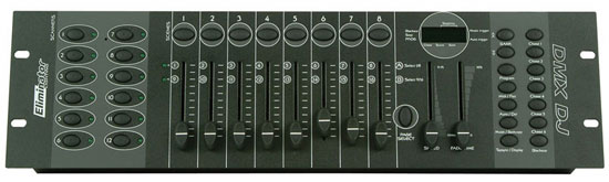 Eliminator Lighting DMX- DJ Controller MIDI Controllable Built-in Microphone Controls up to 192 Channels