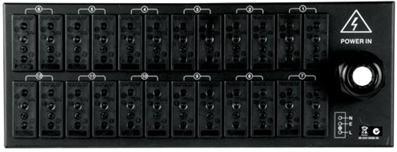 Elation RMD12SPP 24x Stage Pin Rear Panel for RMD-1210