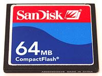 Elation SD64MBC Compact flash card, 64 MB