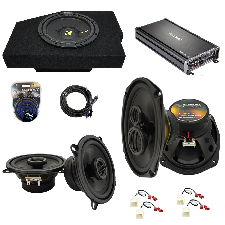 "Compatible with Dodge Ram 2002-2008 Quad or Crew Cab Kicker Single 10"" Sub Box & Speakers"