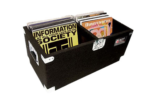 Odyssey Cases CLP200P Carpeted Pro LP Case with Recessed Hardware for 200 Vinyl LPs
