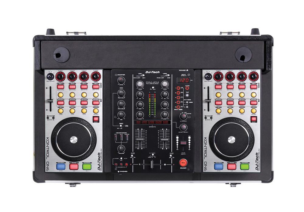 DJ Tech Hybrid 303 Professional Computer DJ Workstation with MIDI Controller System