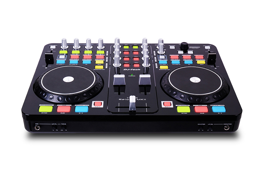 DJ Tech i-Mix Reload MKII DJ Control Surface with Audio I/O built-in Touch Sensitive Jog Wheels