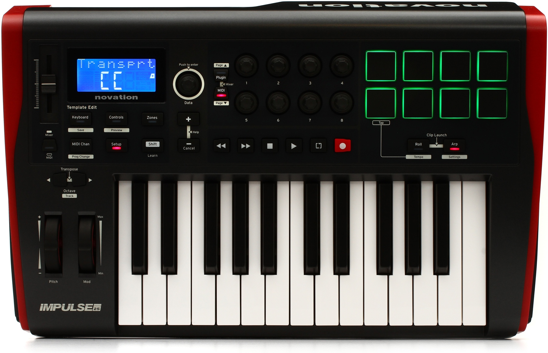 Novation IMPULSE 25 25 Note USB MIDI Controller w/ Semi Weighted Velocity Sensitive Keys