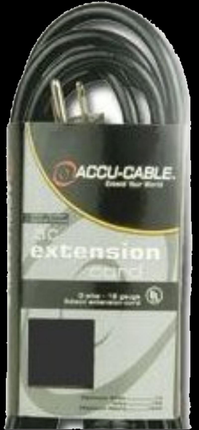 Elation EC163-6 6' Black 16/3 Gauge Extension Cable