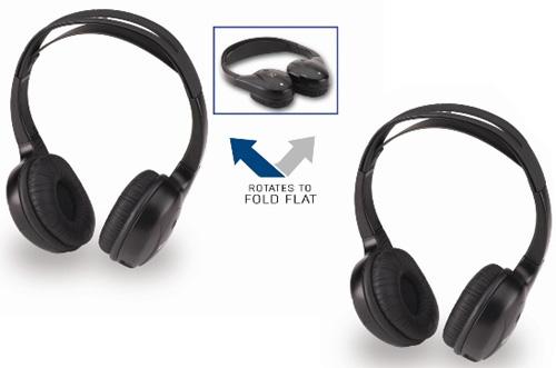 Directed HP060 Car Mobile Video Wireless IR Pair Package (2) HP104 Headphones