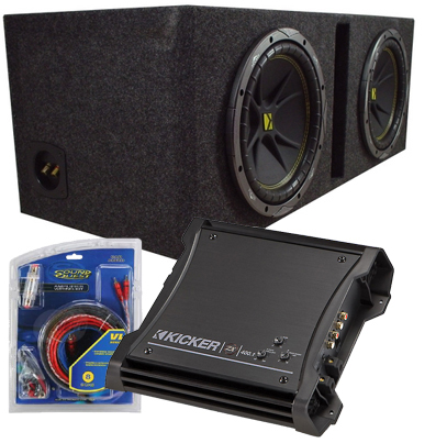 Dual 12 Inch Loaded Subwoofer Enclosure W/ Kicker Subs